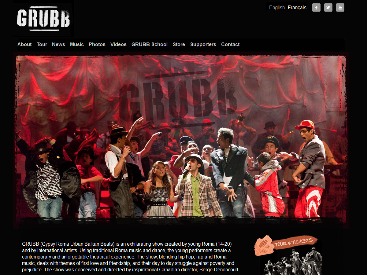 GRUBB website – Home Page (English)