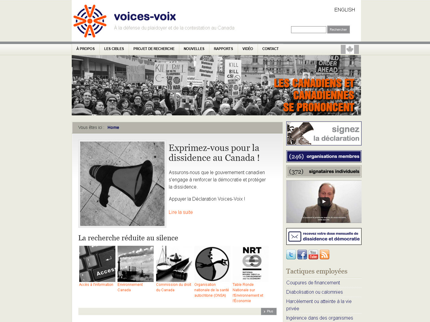 Voices-Voix.ca - Home Page
