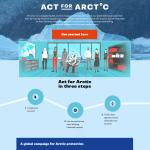 Greenpeace Canada – Act for Arctic campaign website