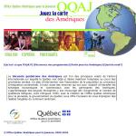 OQAJ website - Home page as it appeared in 2001