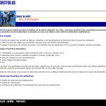 Site Web de l'OQAJ - Page de section